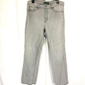 RALPH LAUREN Gray CLASSIC STRAIGHT Jeans ~ 12 x 31